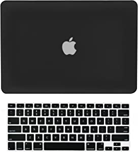 "TopCase® 2 in 1 Ultra Slim Light Weight Rubberized Hard Case Cover and Keyboard Cover for Macbook Pro 13-inch 13"" (A1278/with or without Thunderbolt) with TopCase® Mouse Pad (Macbook Pro 13"" A1278, Black)"
