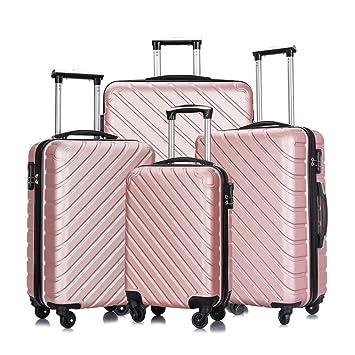 Amazon.com: Apelila - Juego de 4 maletas de viaje con funda ...