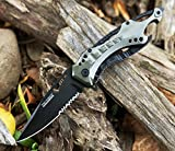 Snake Eye Tactical Assisted Opening Folding Knife Grey 4.5-Inch Closed For Sale