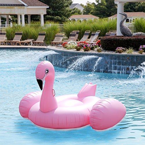pink flamingo pool float tube huge 80 raft inflatable. Black Bedroom Furniture Sets. Home Design Ideas