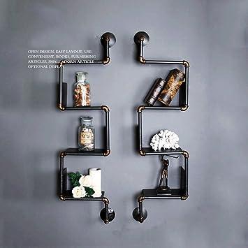 Toalla de baño suave Arte de hierro Tuberías de agua Estanterías de la pared, hacer