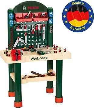 Theo Klein 8461 Bosch Banco De Trabajo Con 82 Accesorios, Juguete, Multicolor (8461)