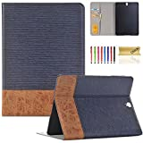 Galaxy Tab S3 9.7 case,T820 Case,Dteck(TM) Business Style Wallet Folio Cover Stand Smart Case with Auto Wake/Sleep Feature Protective Cover for Samsung Galaxy Tab S3 9.7 Inch SM-T820/T825,Blue