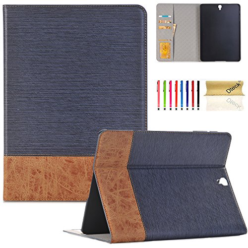 Galaxy Tab S3 9.7 case,T820 Case,Dteck(TM) Business Style Wallet Folio Cover Stand Smart Case with Auto Wake/Sleep Feature Protective Cover for Samsung Galaxy Tab S3 9.7 Inch SM-T820/T825,Blue by Dteck