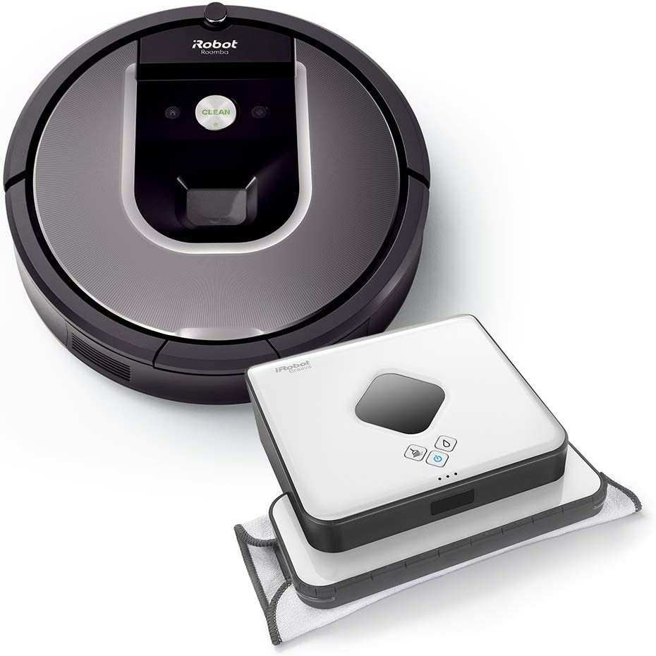 iRobot R960 + B390T Alta Potencia de Limpieza en Todos los Suelos ...
