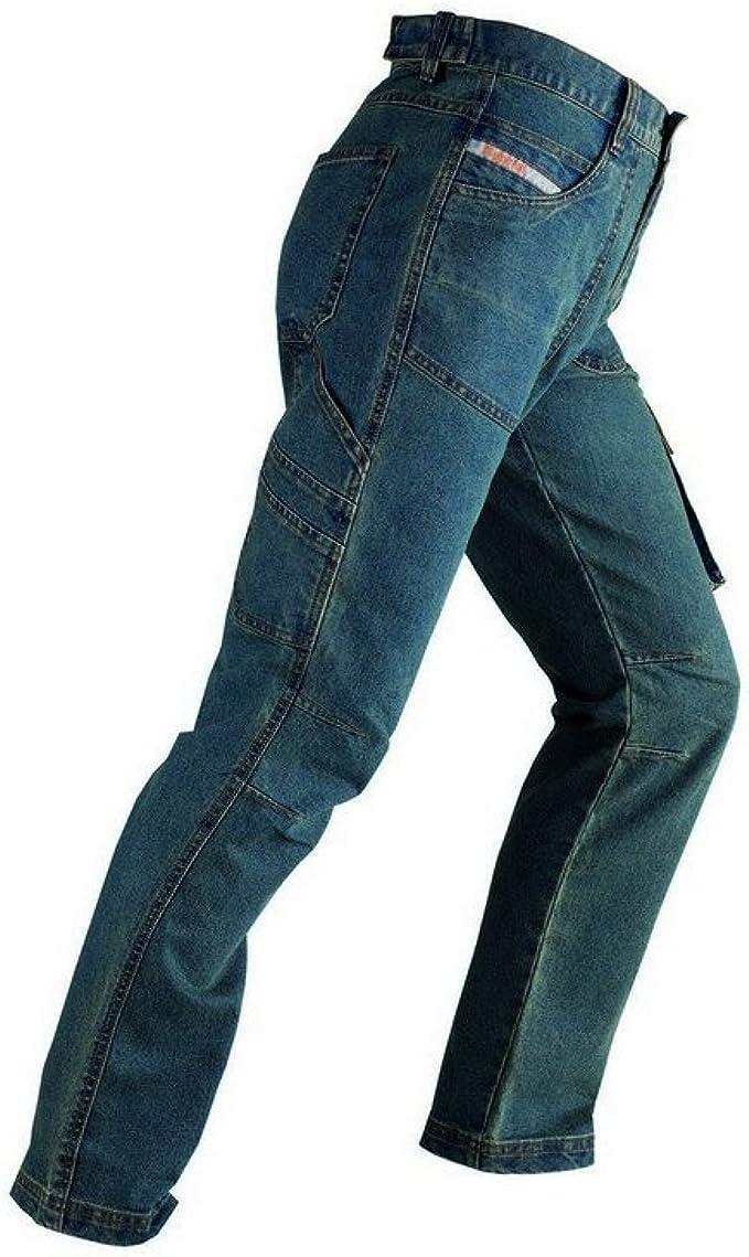 KAPRIOL 0 Pantalones Vaqueros Touran para el Trabajo y el Tiempo Libre Talla M, Turquesa, Hombre