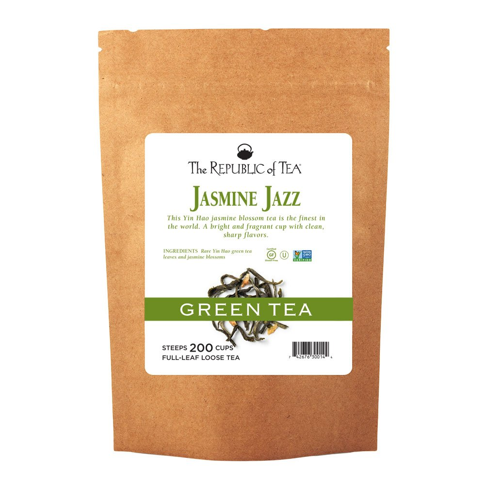 The Republic Of Tea Jasmine Jazz Green Full-Leaf Tea, 1 Pound / 200 Cups