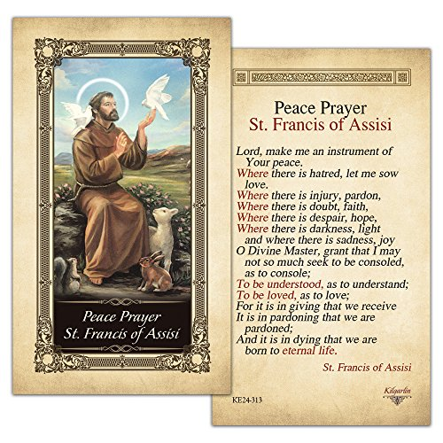 Peace Prayer St. Francis of Assisi Laminated Holy Card - Pack of 25