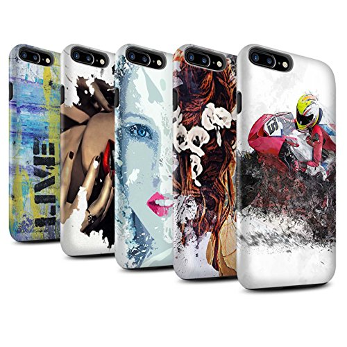 STUFF4 Matte Harten Stoßfest Hülle / Case für Apple iPhone 8 Plus / Pack 12pcs / Fragmenten Kollektion