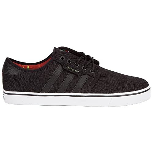 5274356c87e4d Adidas Seeley Hemp Mens Shoes, Black/Light Scarlet, 8: Amazon.ca ...