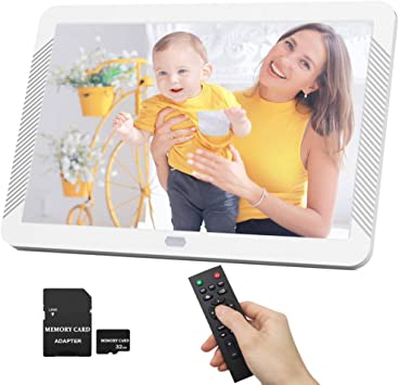 Built-in Stereo Speakers.1080P Video Frame 7 inches Digital Photo Frame with WiFi HD Picture Widescreen SD//MMC//MS Card,Black Support Thumb USB Drive Photos Auto Rotate