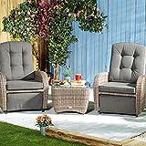 Robert Dyas Bellevue 2-Seater Reclining Chair Rattan Garden Furniture Set
