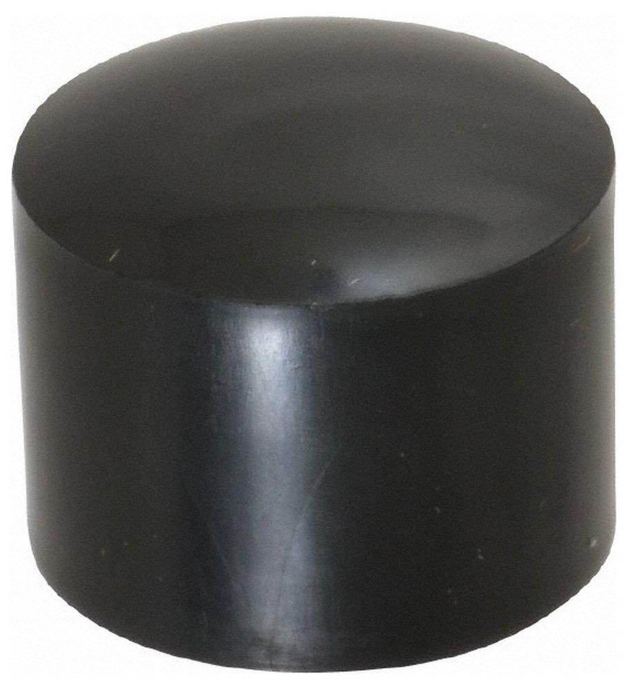 7/8'' ID Round Head Cap, Polyethylene, Black 100 Pack