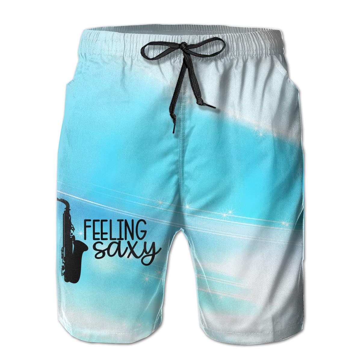 Feelin Saxy Saxophone Man Summer Casual Shorts,Beach Shorts Surf Shorts