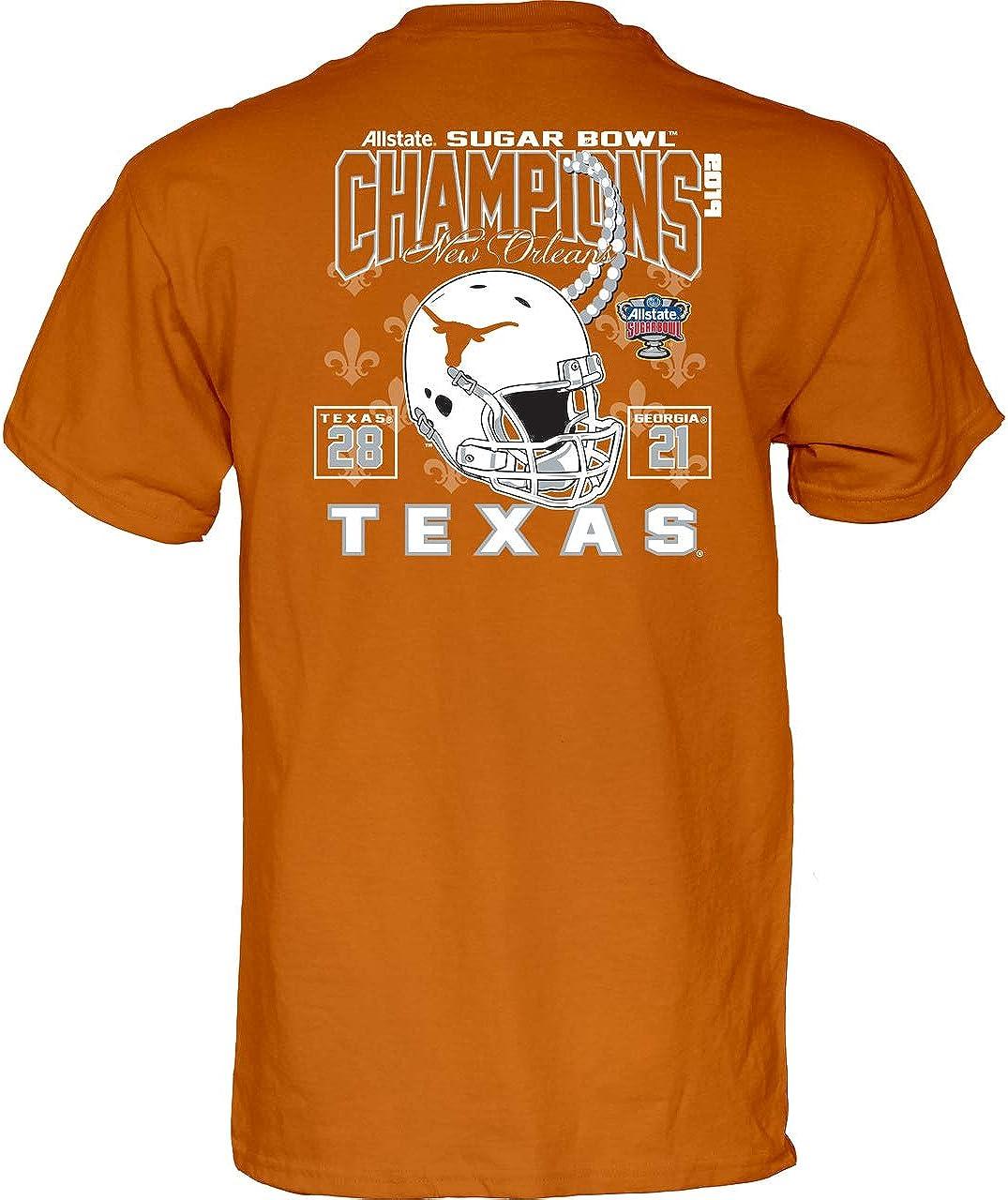 Amazon.com : UT University of Texas Longhorn 2018 Sugar Bowl Champions Tee  (Burnt Orange, S) : Clothing
