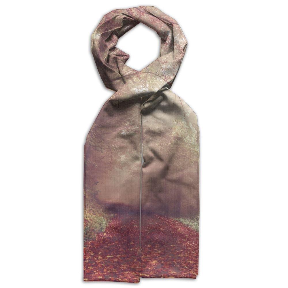 DGYEG44 Wood Lying Pathways Autumn Forest Printing Scarf Kids Warm Soft Fashion Scarf Shawl For Autumn Winter