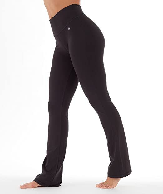"c166cb6f17480 Bally Total Fitness Womens Tummy Control Long Pant 34"", Black, ..."