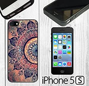 Mandala Datura Hippie Custom made Case/Cover/skin FOR iPhone 5/5s -Black - Rubber Case