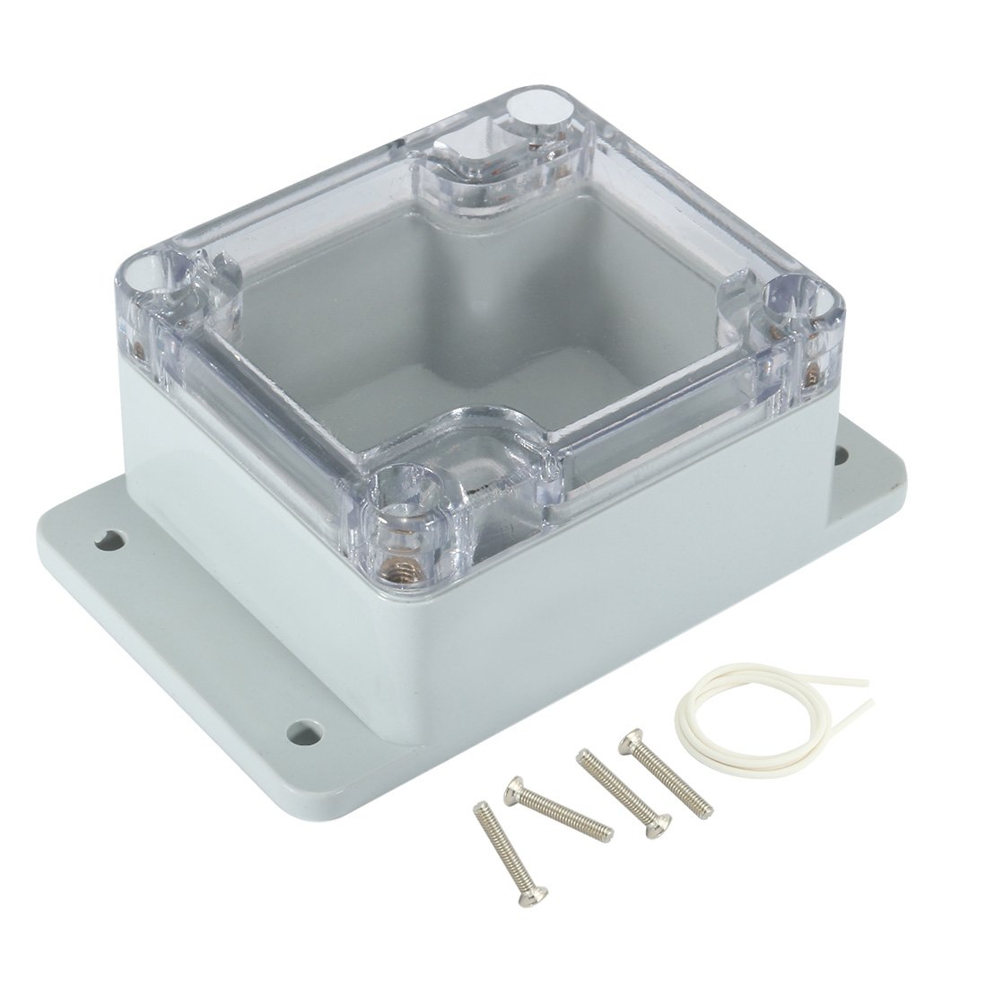 uxcell 2.5x2.3x1.4(63mmx58mmx35mm) ABS Junction Box Universal Project Enclosure w PC Transparent Cover a17031600ux1148