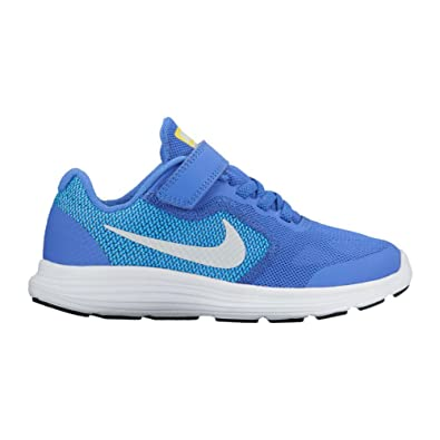NIKE Kids' Revolution 3 (PSV) Running-Shoes, Medium Blue/Pure