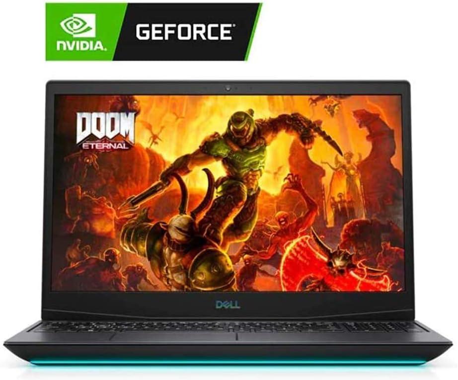 "Newest Dell G5 15.6"" FHD Gaming Laptop, i7-10750H, Backlit Keyboard, Bluetooth, USB-C, HDMI, Mini DP, NVIDIA GeForce GTX 1650 Ti, Windows 10 Home, Black (8GB RAM | 256GB PCIe SSD)"