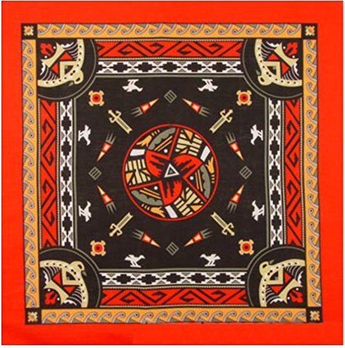 Aztec Bandanas Red W/Dark Center