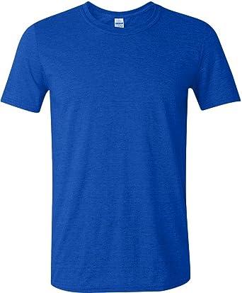 Gildan Mens Softstyle Ringspun T-shirt - Medium - Heather Royal