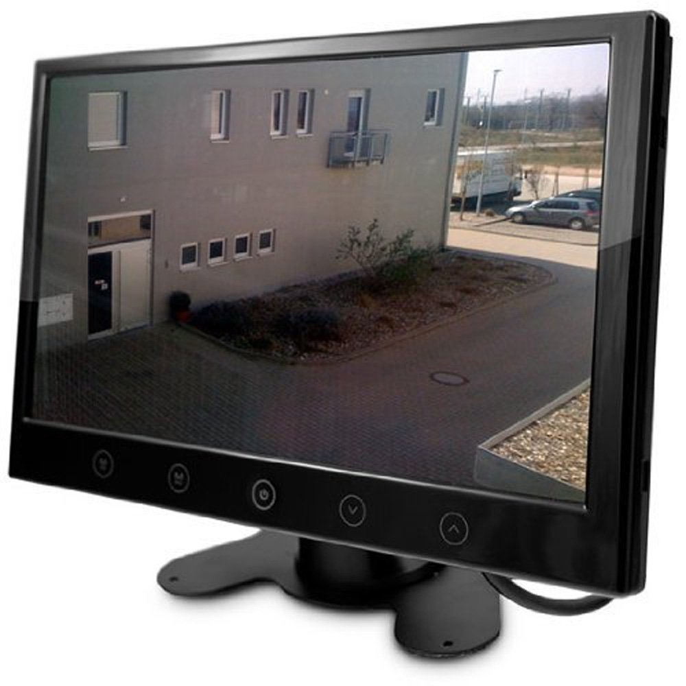 CLHome CM-HGUE9 Monitor TFT de 9' con retroiluminació n LED, conexiones BNC y funcionamiento a 12V, Vigilancia monitor para vigilancia Cá mara Supervisió n Vigilancia monitor para vigilancia Cámara Supervisión