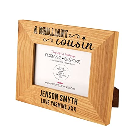 Personalised Engraved Cousin Photo Frame Best Family Gift Ideas Custom Birthday Gifts For