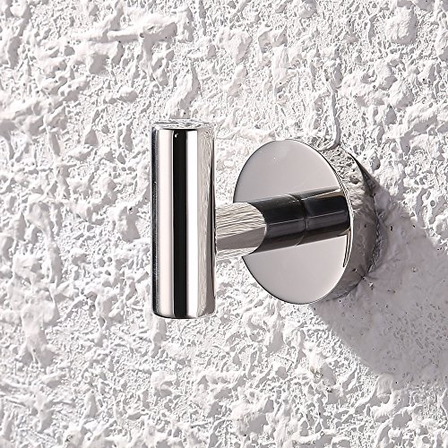 KES SUS 304 Stainless Steel Coat Hook Towel/Robe Clothes Hook for Bath Kitchen Garage Heavy Duty Wall Mounted, Polished Finish, A2164
