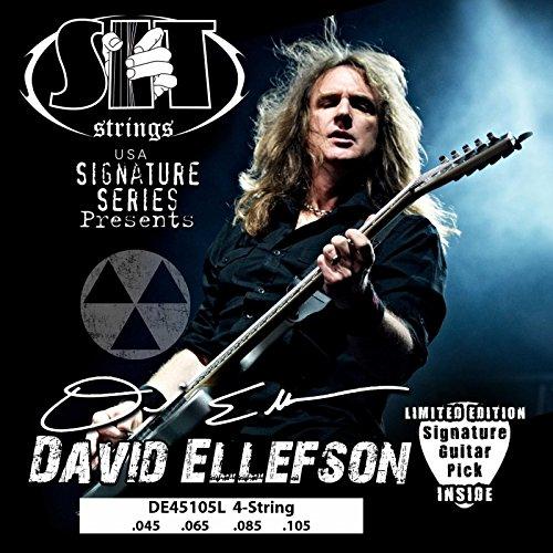 Nickel Strings Guitar Plated Bass (SIT Strings DE45105L Nickel Plated Bass Guitar Strings, 4-String Medium Light)
