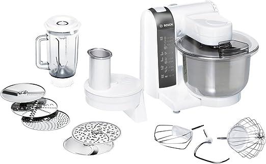 Bosch MUM48120DE - Robot de cocina (3,9 L, Blanco, 1,2 m, 4 discos, De plástico, Acero inoxidable): Amazon.es: Hogar