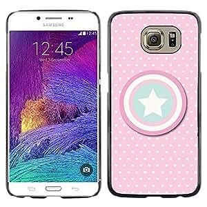 FlareStar Colour Printing Captain Polka Dot America Shield Star cáscara Funda Case Caso de plástico para Samsung Galaxy S6 / SM-G920 / SM-G920A / SM-G920T / SM-G920F / SM-G920I