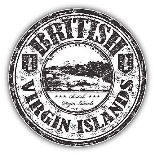 (Magnet British Virgin Islands Grunge Rubber Stamp Window Truck Car Vinyl Flexible Magnet Magnetic Bumper Sticker 5'' x 5'')