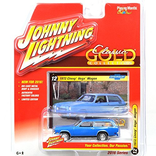 "JOHNNY LIGHTNING 1: 64SCALE CLASSIC GOLD COLLECTION 1972 CHEVY VEGA WAGON (BLUE) Johnny Lightning one sixty-four scale ""Classic Gold Collection"", ""1972 Chevy Vega Wagon"" (blue) [parallel import goods]"