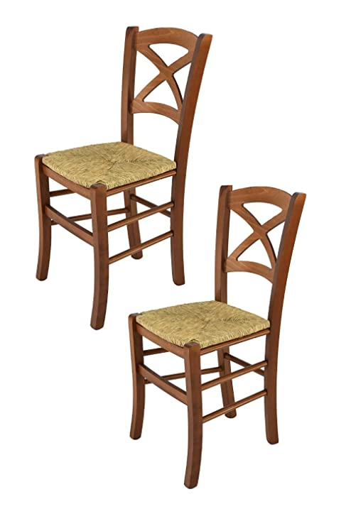 Tommychairs - Set 2 sedie Classiche Cross per Cucina, Bar e Sala da ...