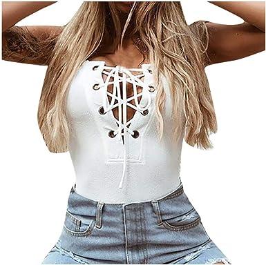 CLOOM Camisa Slim Fit para Mujer del Primavera Y Verano Sexy ...