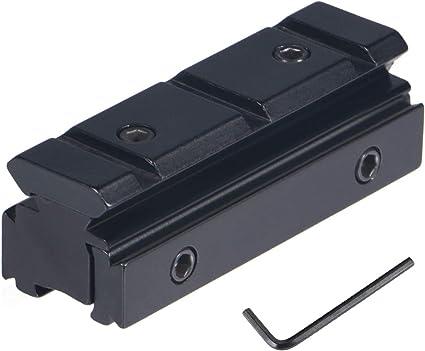 FOCUHUNTER Tactical Scope Rope Rail Base 20mm Adaptateur Support pour Montage sur Rail Picatinny//Weaver