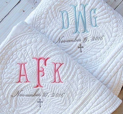 Amazon baby blanket baptism gift boy girl personalized quilt 36 baby blanket baptism gift boy girl personalized quilt 36 x 46 negle Image collections