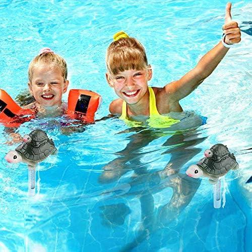 schwimmendes Pool-Thermometer f/ür Schwimmbad Eisb/är-Form drinnen und drau/ßen Miouldram Kabellose Wassertemperatur Spas