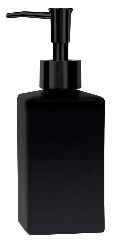 Spirella Seifenspender Quadro Porzellan Fl/üssigseifen-Spender 300ml matt schwarz