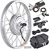 AW 16.5' Electric Bicycle Front Wheel Frame Kit for 20' 36V 750W 1.95'-2.5' Tire E-Bike