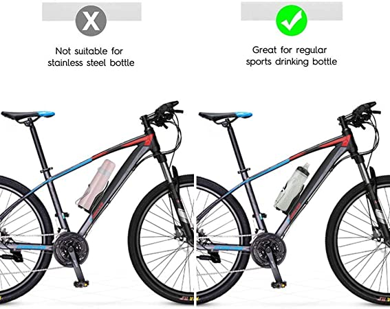 QNFY Portabidones de Bici, Ajustable Portabotellas Bicicleta ...