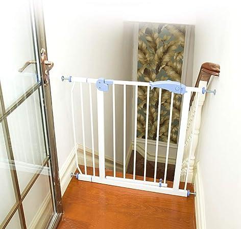 Puertas de bebé Puertas De Seguridad For Bebés De Metal con Puerta De Acceso Directo, Puerta