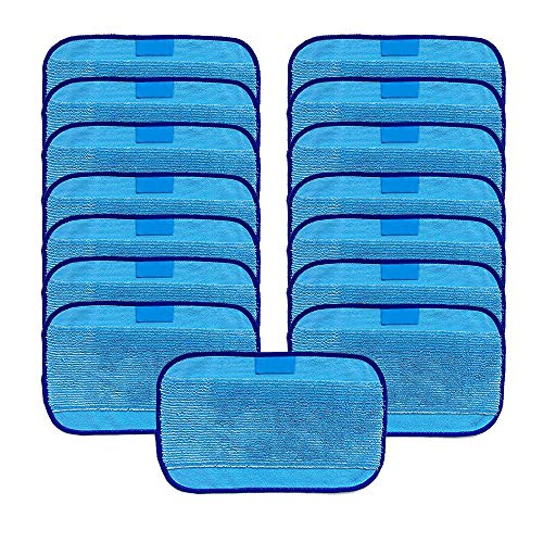 VACFIT Microfiber 15-Pack, Pro-Clean Mopping Cloths for Braava Floor Mopping Robot 380 380T ()