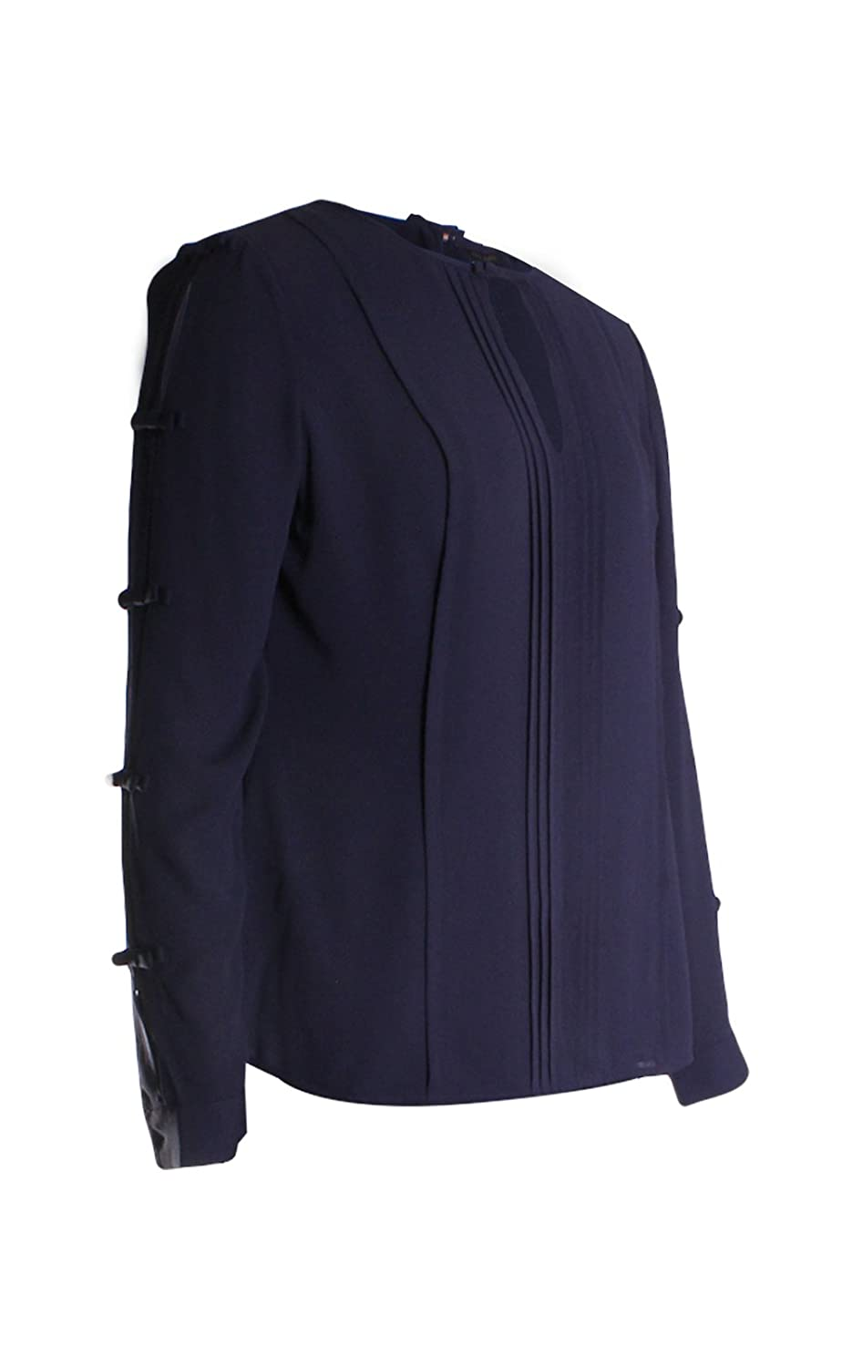 2198519ff5d23c Ted Baker London Huda Pintuck Bow Blouse Top in Navy - Blue -   Amazon.co.uk  Clothing
