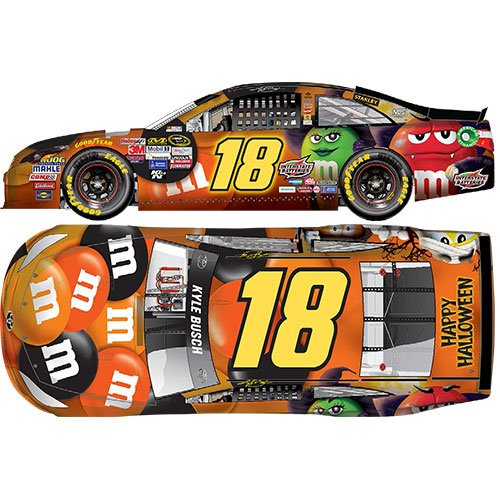 #18 Kyle Busch 2016 M&M's Halloween 1/64 NASCAR Diecast Car Toyota Camry Action Gold Series -