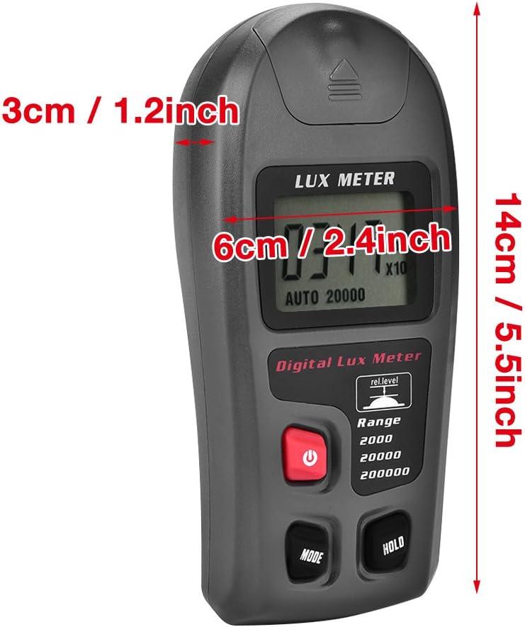MT-30 Digital Luxmeter LCD Display Light Meter Environmental Testing Illuminometer 2 Times//sec for Factory Warehouse School Illumination Tester