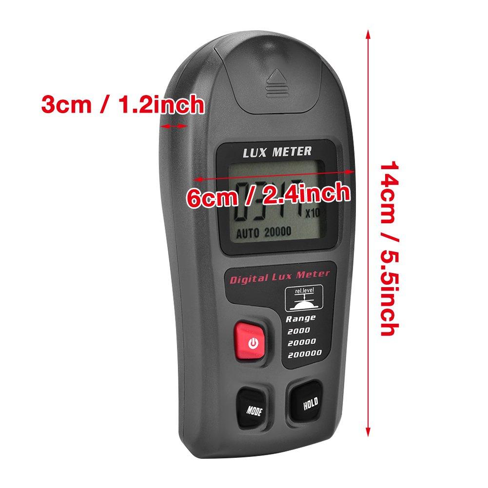 MT-30 Digital Luxmeter LCD Display Light Meter Environmental Testing Illuminometer Electrical Tools Illuminometer Digital Luxmeter