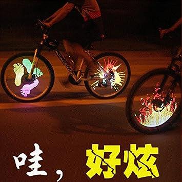 Bicicleta rueda luz radios luz 126 LED resistente al agua Funciona con AAA recargable para MTB y bicicleta de carretera, RGB: Amazon.es: Deportes y aire ...